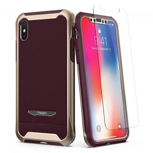newest collection 113df 013bf Spigen iPhone X Reventon Case Metallic Gold (Polycarbonate + TPU + Glass)