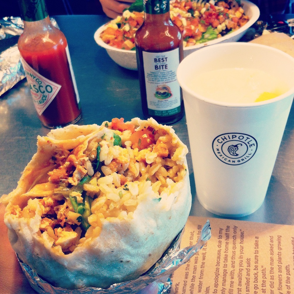 The thought of saying goodbye to Chipotle burritos when I go back in Kyrgyzstan breaks my heart... I think I'm too attached. Oh how I will miss thee.