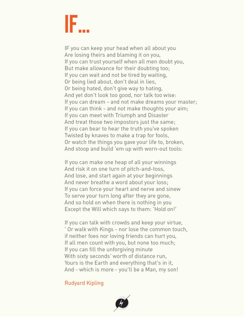 if poem by rudyard kipling essay