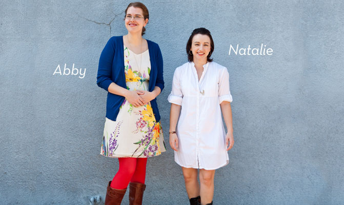 Feliz Curators Abby Powell and Natalie Davis