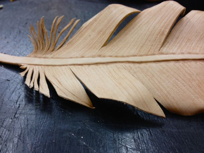 Leather eagle feather by Natalie Davis