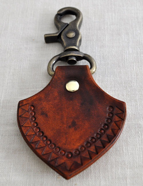 Canoe sunflower key chain