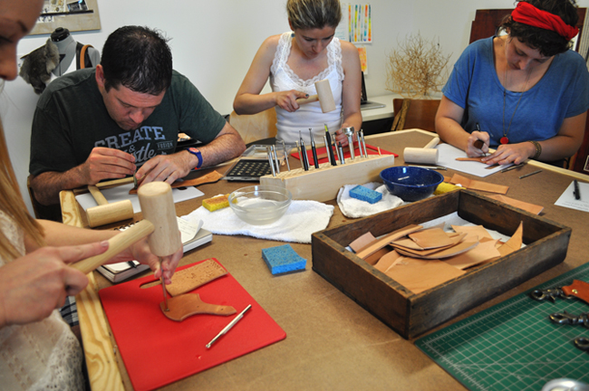 Canoe Workshop on Leather Tooling from canoegoods.com