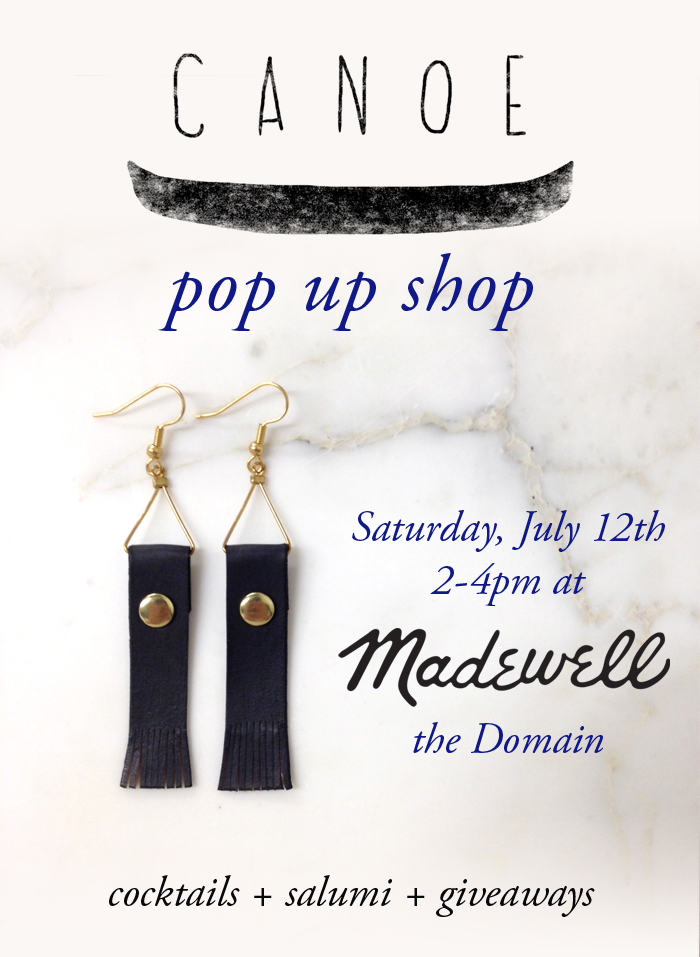 Canoe Pop Up at Madewell Austin on July 12, 2014