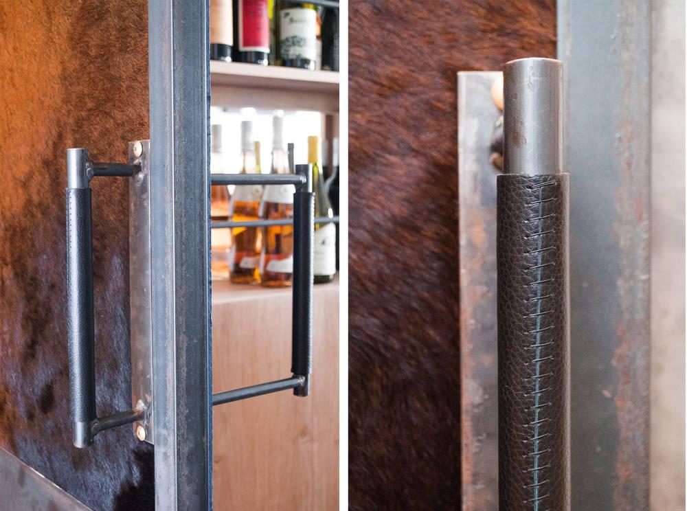 Canoe door handle at Salt & Time Butcher Shop & Salumeria