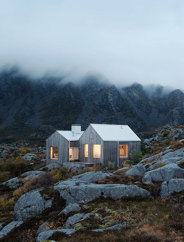 The house on the northern Norwegian island of Vega is designed by Kolman x Boye. Photo Åke E: son Lindman.