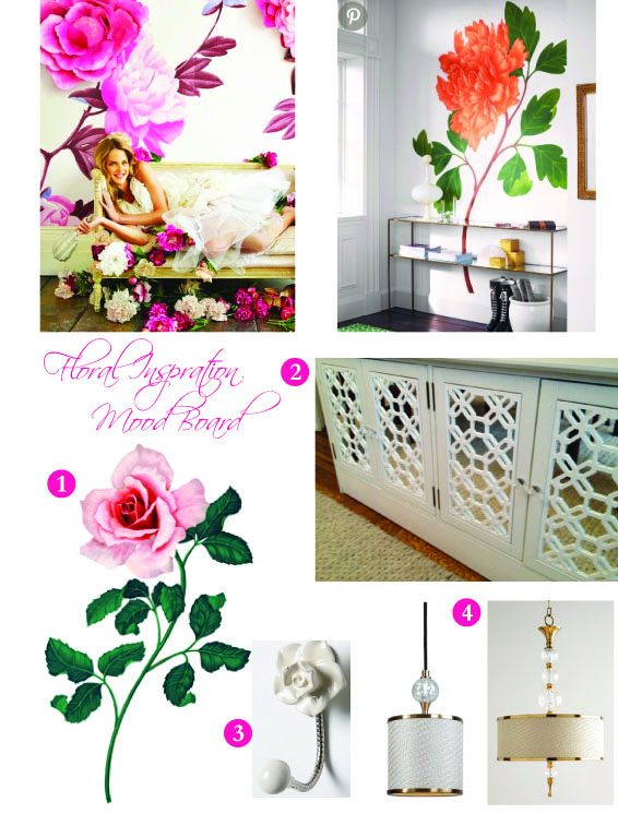 1  Large Rose Decal  2  My Overlays  3  Rose Wall Hook  4 Dueville Lights