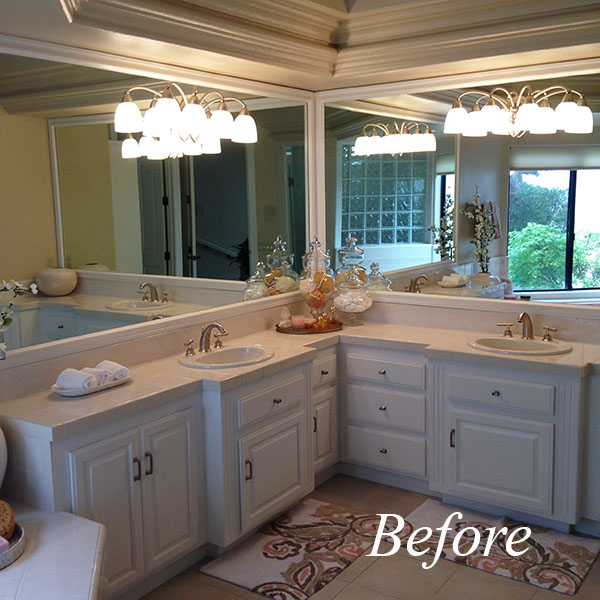 This was after a new coat of paint and styling it for resale when my client decided not to sell the house but to completely remodel it instead.