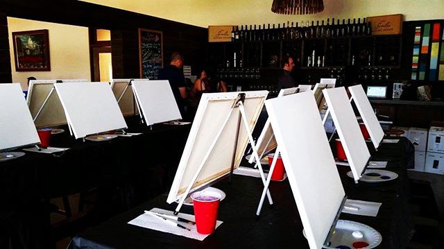 In case you didn't know, paint nights with @paintrocksla are so fun!  Rock out with your paint out!  See you next month! . . . . #losangeles #ladydior #ladiesnight #ladyday #ladiesman #sunland #olympics #wine #classicrock #thevoice
