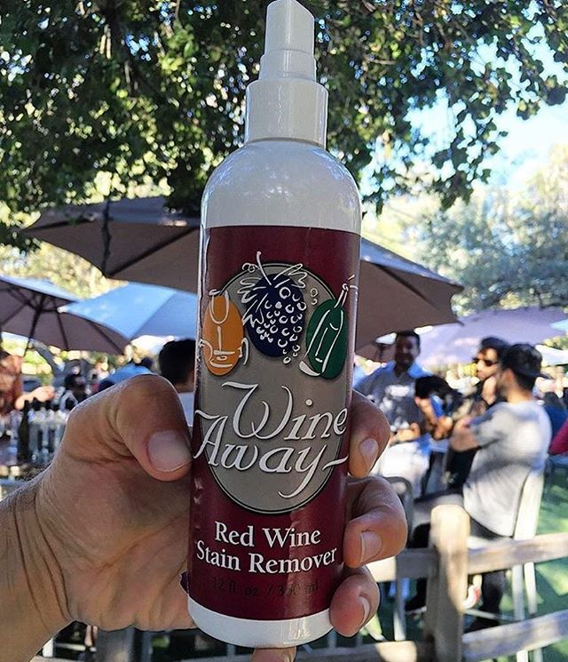 No matter how much wine is consumed this holiday season (or daily) this handy dandy liquid will ensure that you won't be crying over spilled wine. .  And for this, we are thankful for @wine_away! . . . . . #thanksgiving #thankfulfor #ineedadrink #redwine #wecanpicklethat #wecancleanthat #familytime #givethanks #clean #wineoclock #drinkup #whatspill