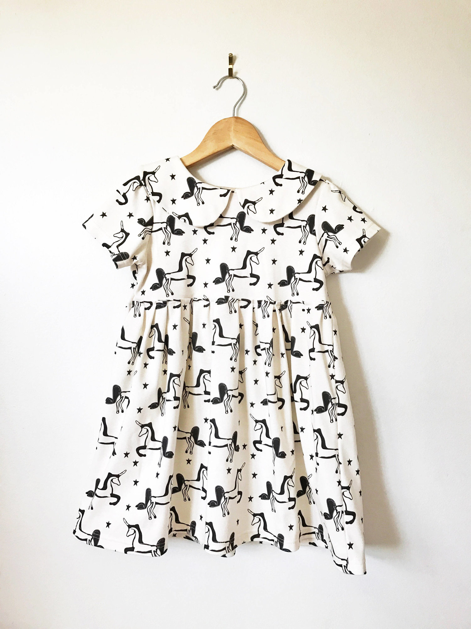 6b7d58fb5156 Peter Pan collar dress // unicorn print — Lola & Stella