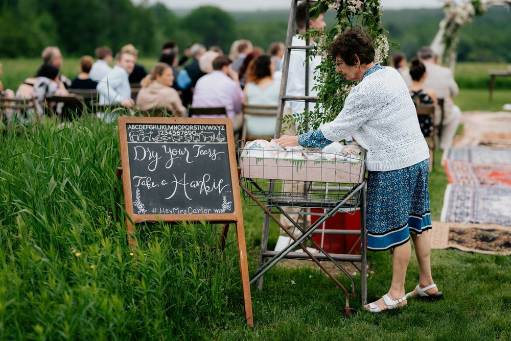 Fiddle Lake Farm Philadelphia Pennsylvania Misty Rustic Wedding with Lush Florals Hankies