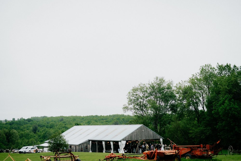 Fiddle Lake Farm Philadelphia Pennsylvania Misty Rustic Wedding with Lush Florals Reception site