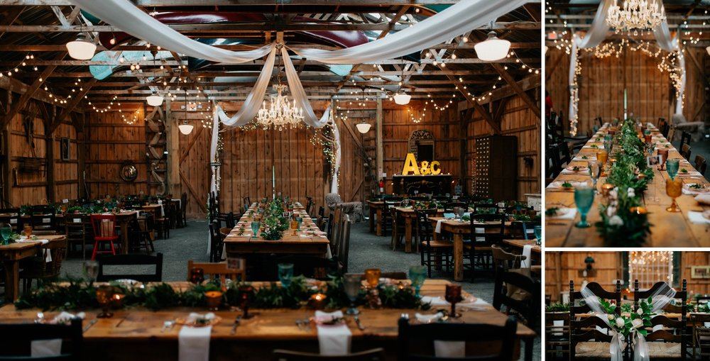 Fiddle Lake Farm Philadelphia Pennsylvania Misty Rustic Wedding with Lush Florals Reception Details