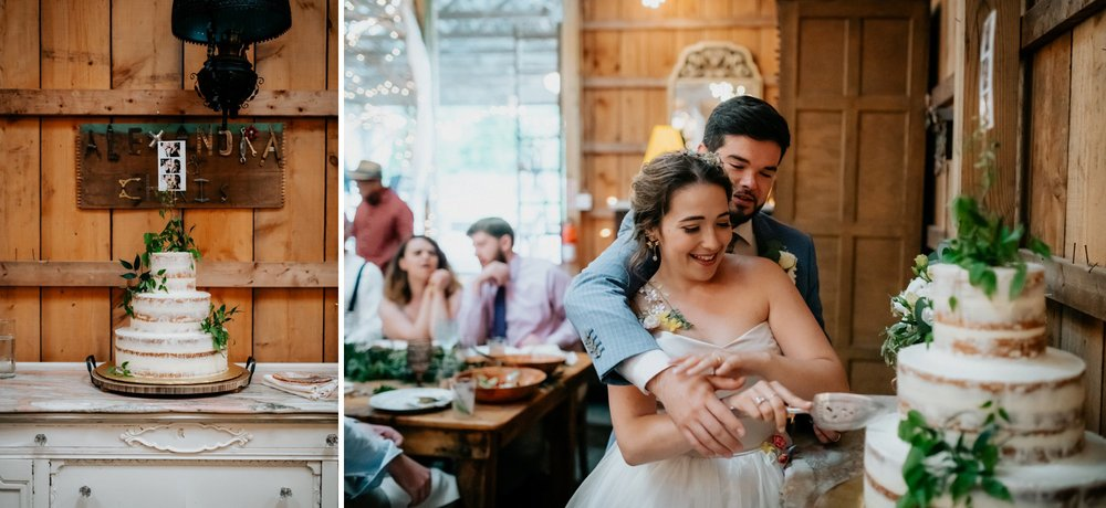 Fiddle Lake Farm Philadelphia Pennsylvania Misty Rustic Wedding with Lush Florals Naked Cake