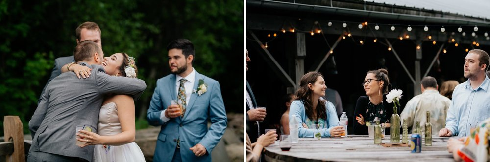 Fiddle Lake Farm Philadelphia Pennsylvania Misty Rustic Wedding with Lush Florals Guests