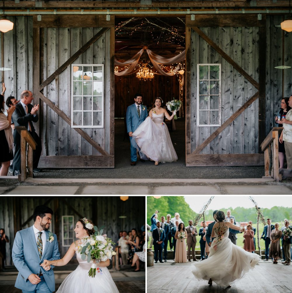 Fiddle Lake Farm Philadelphia Pennsylvania Misty Rustic Wedding with Lush Florals First Dance