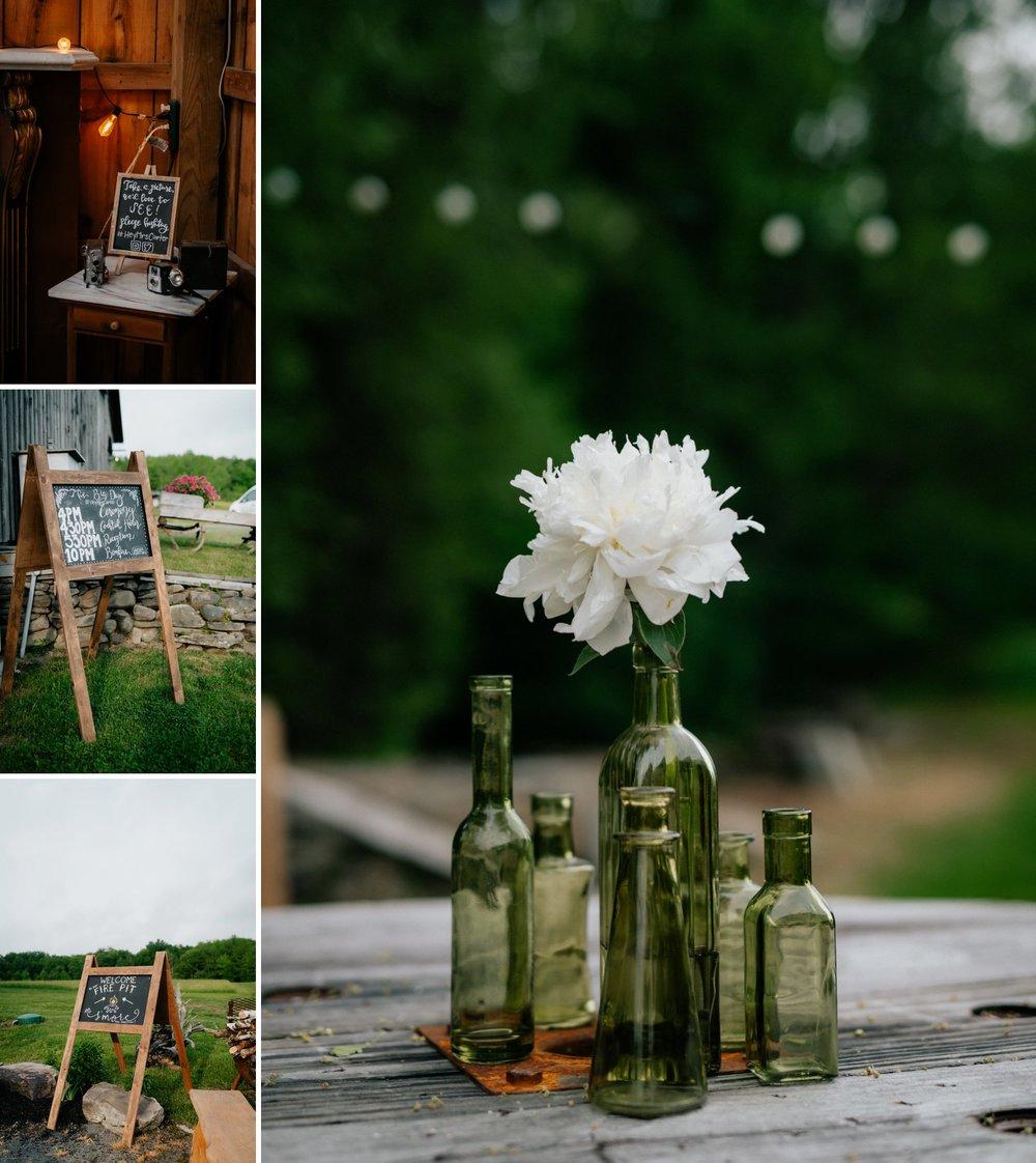 Fiddle Lake Farm Philadelphia Pennsylvania Misty Rustic Wedding with Lush Florals  Chalkboard Signage