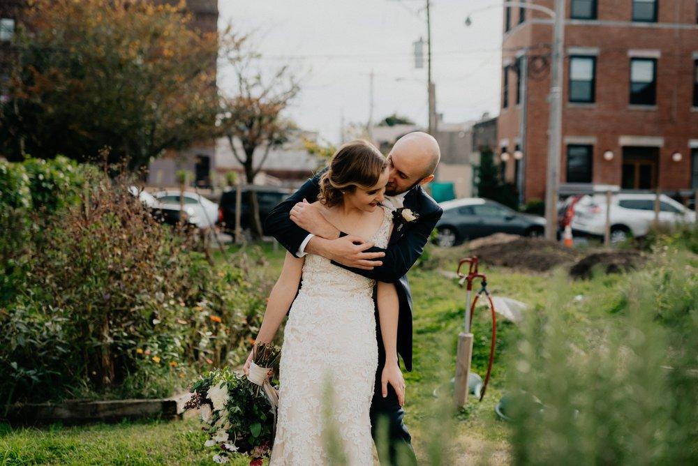 Elegant Fishtown Philadelphia Wedding Modern Styling Donuts Ben Franklin Bridge