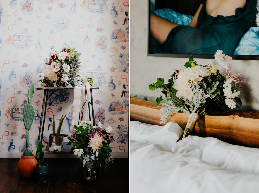 Elegant Fishtown Philadelphia Wedding Modern Styling Donuts Ben Franklin Bridge