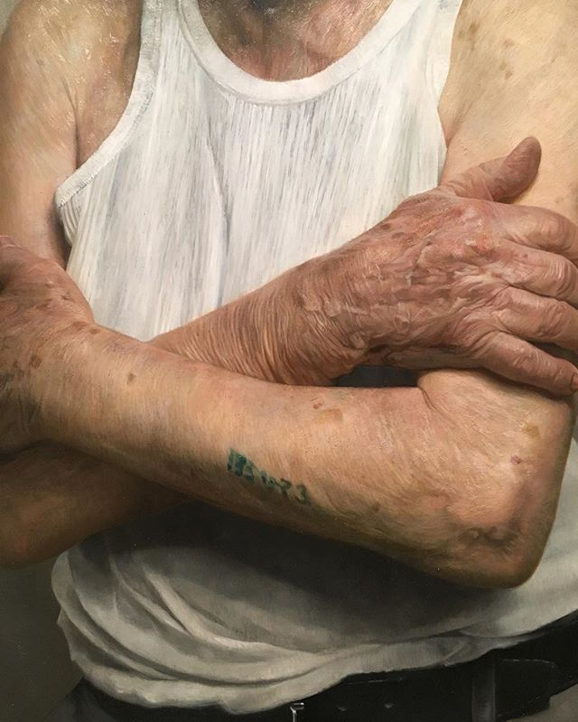 Another close up of Kassan's portrait of Auschwitz survivor Sam Goldosky. A truly beautiful and haunting story.