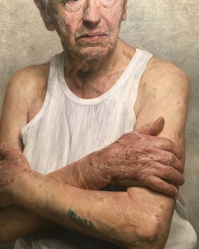 This is a stunning portrait done by David Kassan of a holocaust survivor. His project chronicles the stories of the last remaining holocaust survivors, giving them dignity and humanity. We love the power of art that captures such stunning emotion.