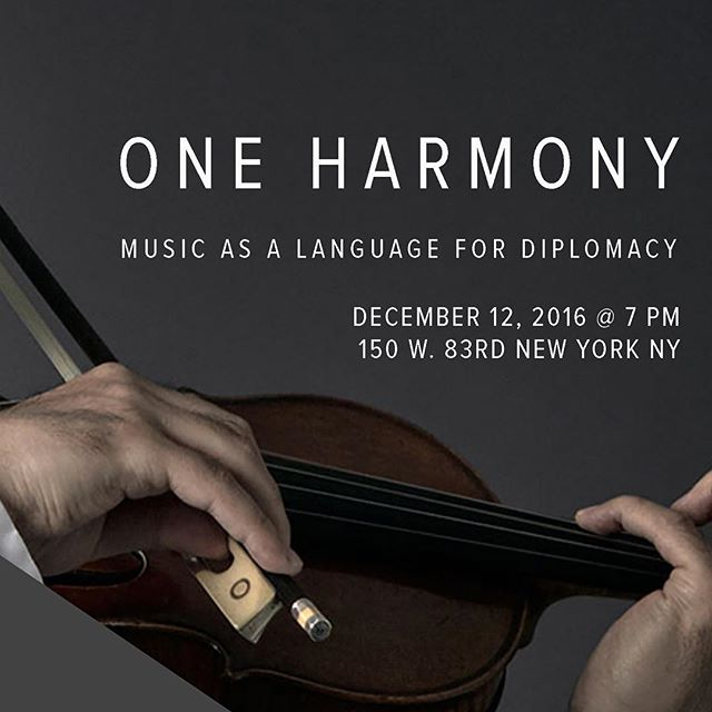Please see our website for a new awesome event coming up December 12th! 150 W 83rd at 7. Hyung Joon Won, visionary violinist, performs his concert and discusses his work for an inter-Korean orchestra. Art as a language for diplomacy. Followed by a panelist of renowned NGO owners, authors, and artists. Wine and food as well!
