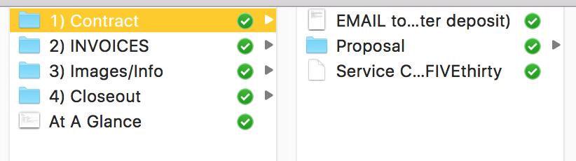 FIVE:thirty Client folder template