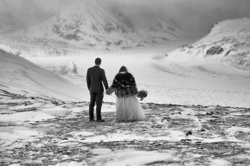 A wedding on the Knik Glacier in Alaska. Photo by Ralph Radford