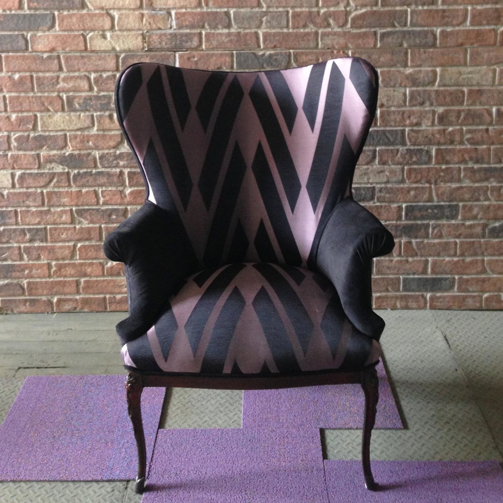 Recovered Interior Criss Cross Wingback