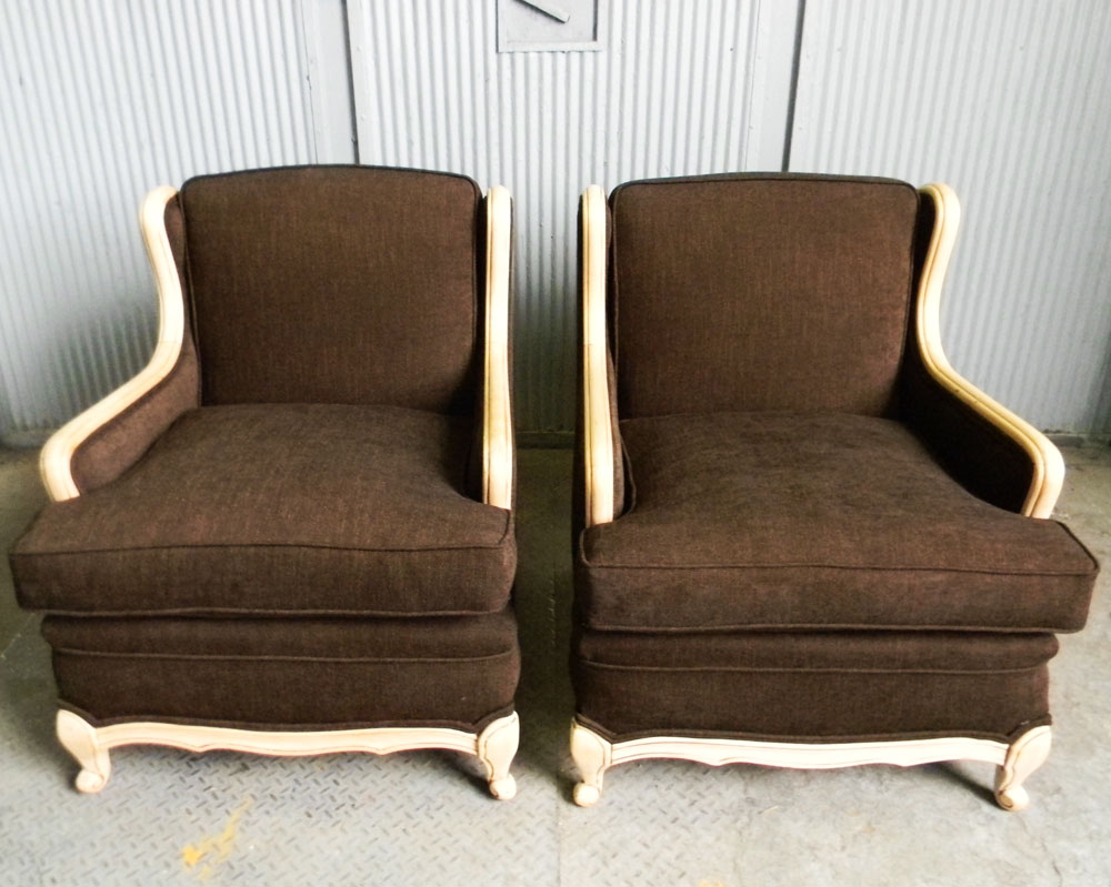 Recovered Interior Bergere Pair