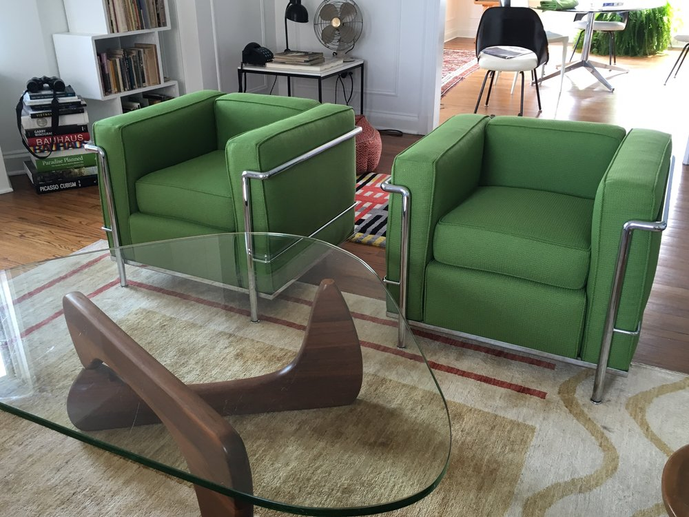 Recovered Interior Le Corbusier Armchairs