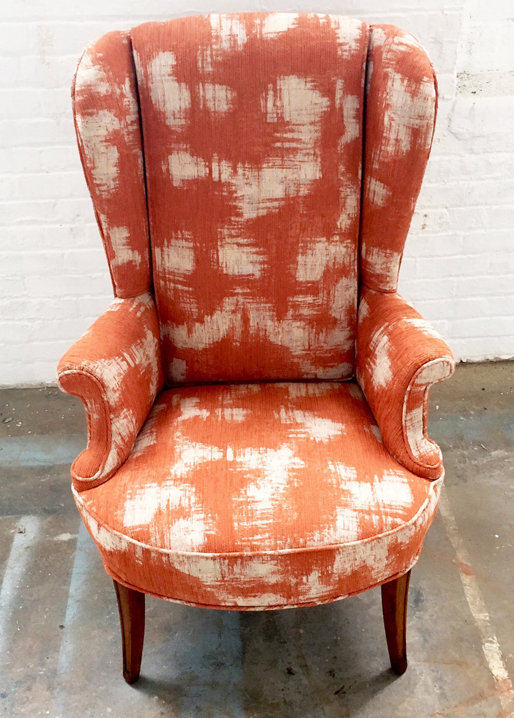 Recovered Interior Little Orange Wingback.