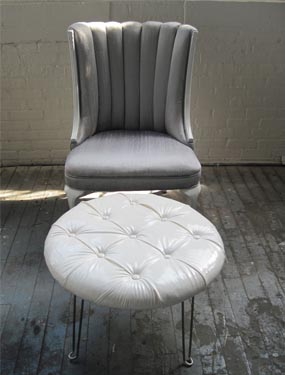 Recovered Interior Channel Tufted Chair