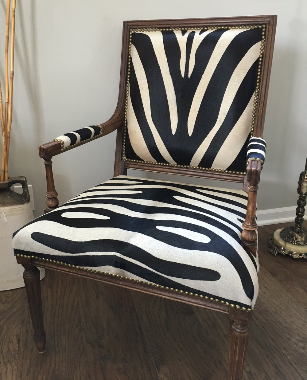 Recovered Interior Zebra Chair