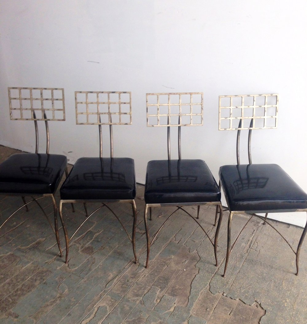 Recovered Interior Heavy Metal Dining Chairs