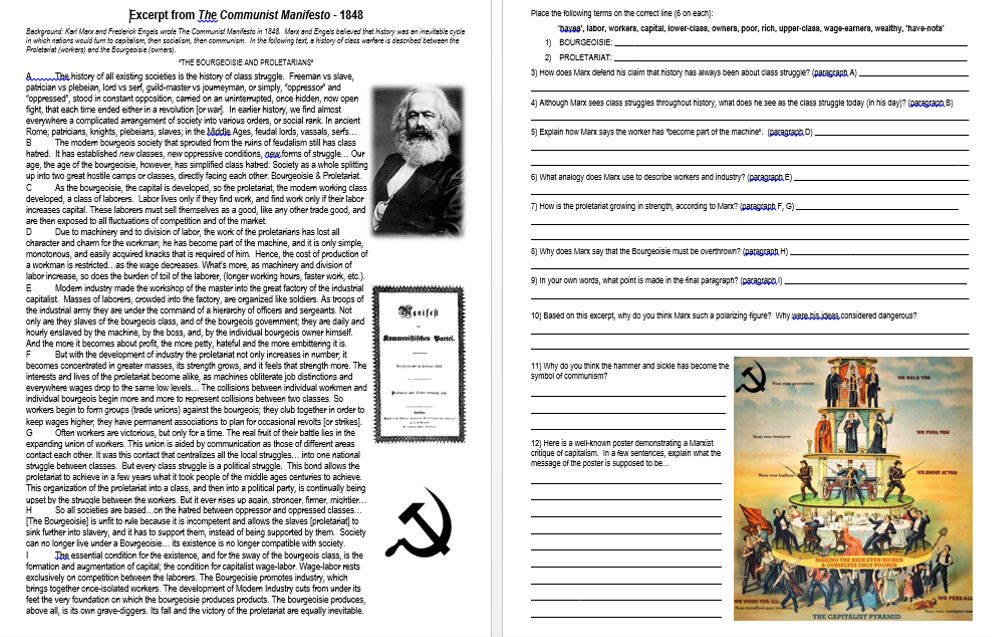 history the bourgeoisie the proletariat and communism essay