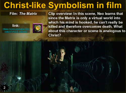 Christ Like Symbolism In Film A Rich Interactive Series Of Slides