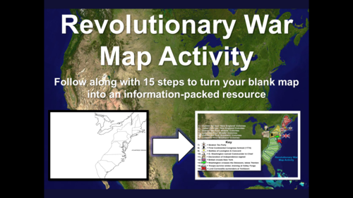 Mapping the Revolutionary War - a series of visual, follow-along ...