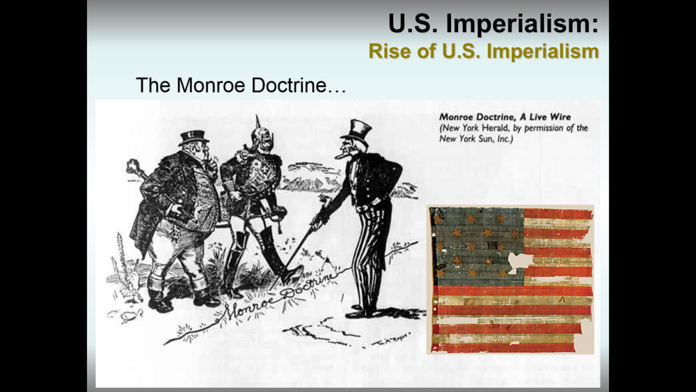 an analysis of the concept of the monroe doctrine The monroe doctrine was expressed during president monroe's seventh annual message to congress, december 2, 1823.