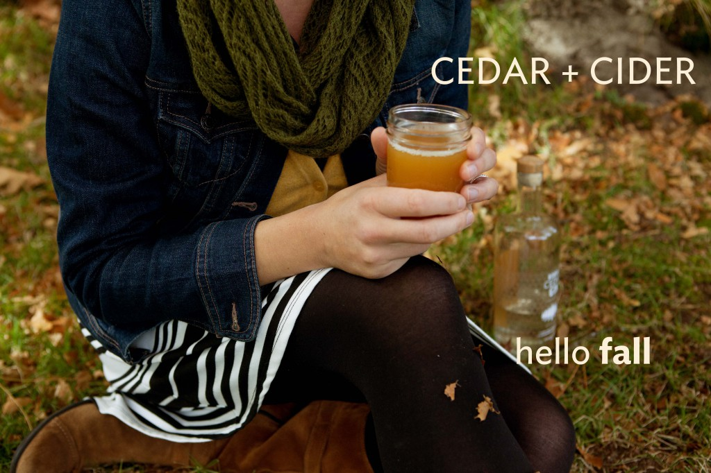 cedar + cider w words