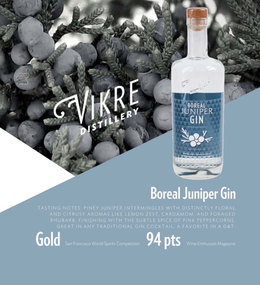 juniper gin sell sheet front