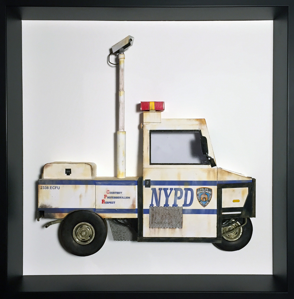 "NYPD Interceptor, 16"" x 16"""
