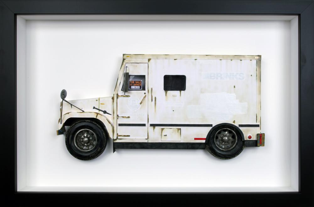 """Brinks Truck - 16"""" x 24"""""""
