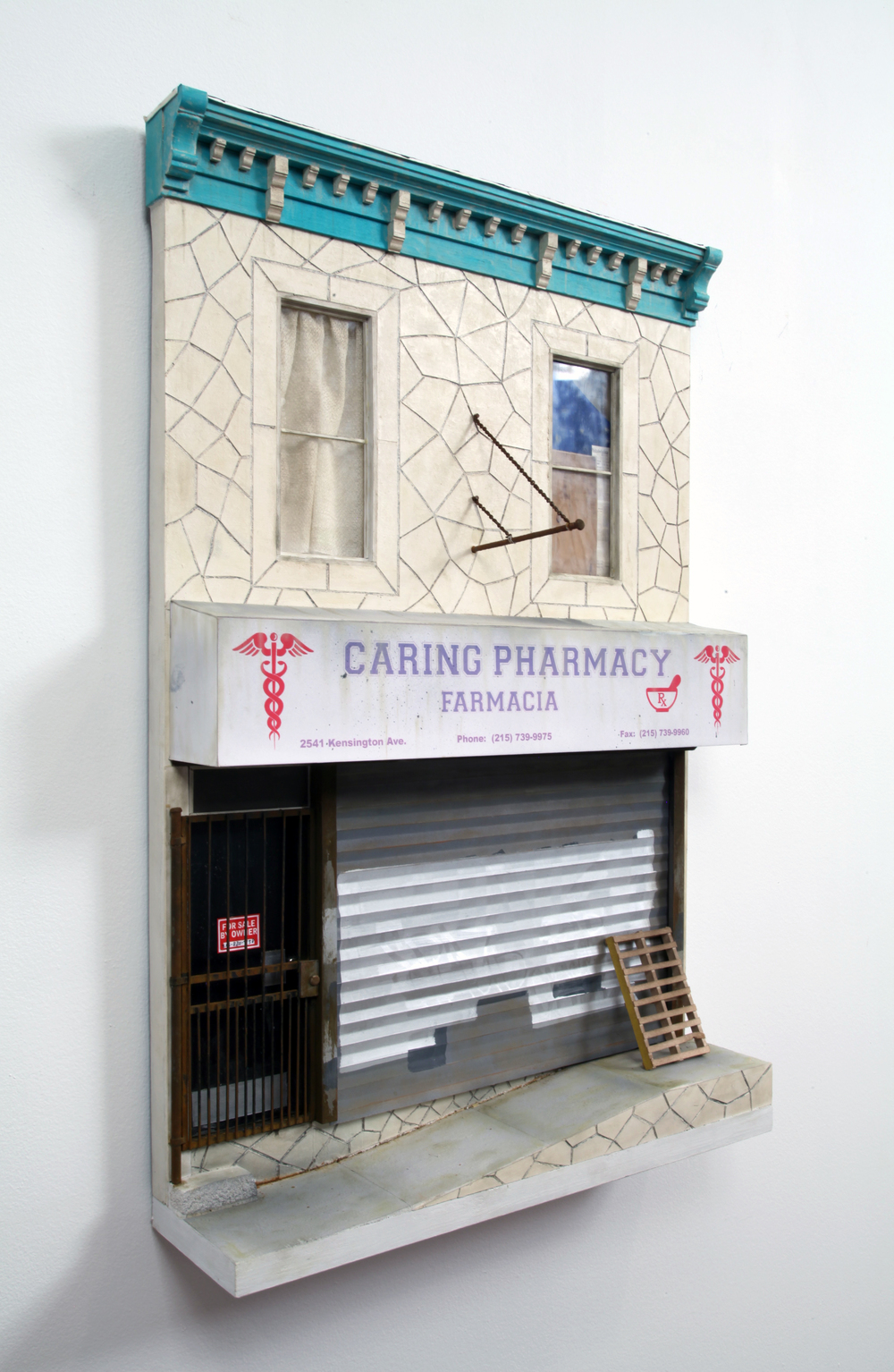 "Caring Pharmacy - 24"" x 16"" x 4"" - SOLD"