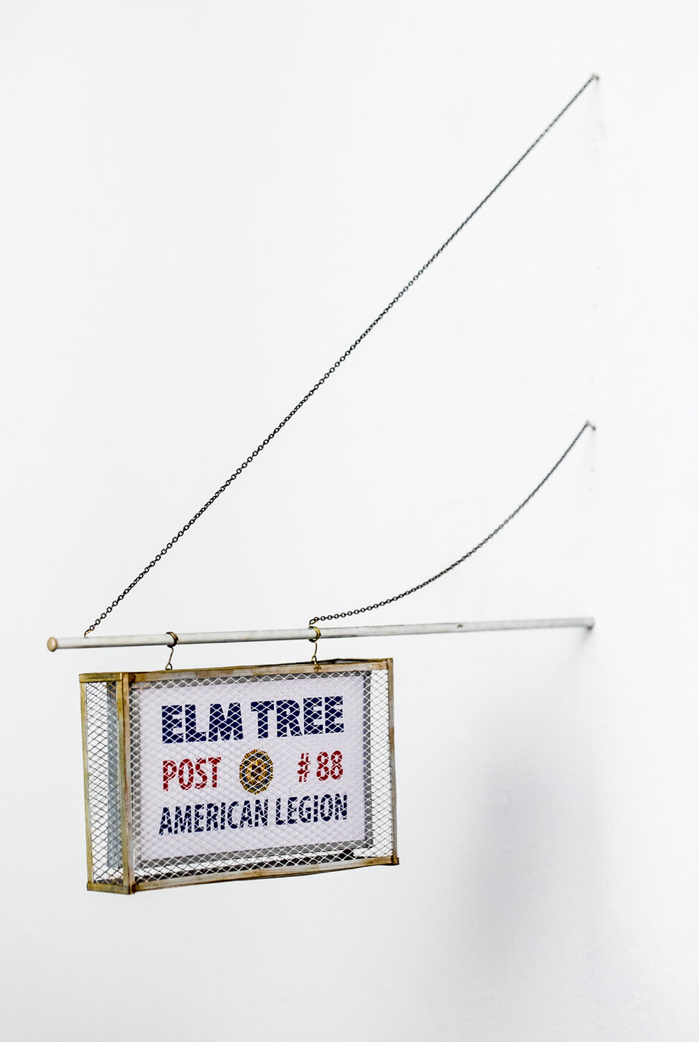 Elm Tree Post Sign