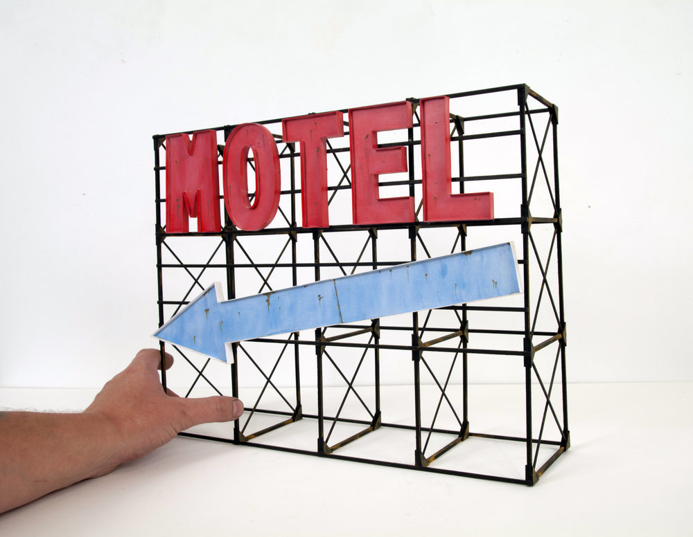 Motel Sign with Arrow - SOLD