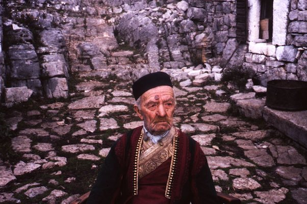 "106-year-old Montenegrin (he insisted on changing into his ""burying clothes"" before I could take his picture)"
