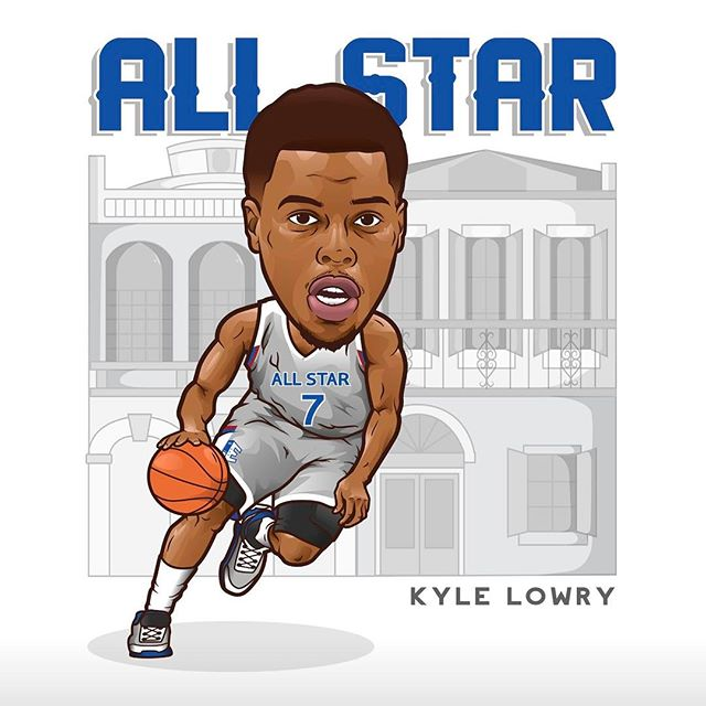 Congrats to Big Dog @kyle_lowry7 for his 3rd All Star nod. Looking forward to you and @demar_derozan showing New Orleans what's up! @raptors