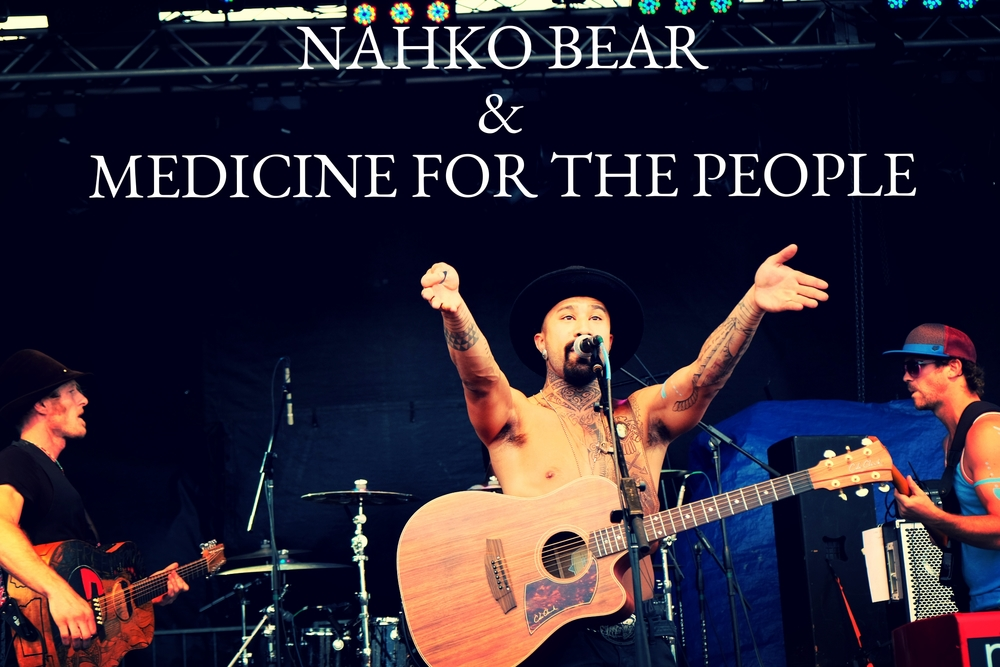 Nahko Bear and Medicine for the People at Summer Camp Music Festival.